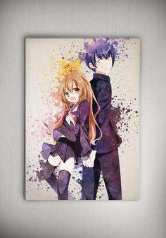 Toradora Anime, Toradora! Anime Poster, Anime Watercolor Wall Art, Anime Poster, Anime Room Decor ***Buy ANY 2 prints in the same size and PICK 3rd print for FREE. (in equal size!)*** How To Order: 1. Purchase any 2 prints in the same size. 2. Select any 1 additional print of your choice. 3. Just copy and paste the link for additional print you would like in the message to Zapalkowo box upon checkout, or message me on Etsy. 4. Please do not copy the titles of the item but copy the links. ...