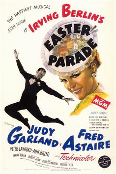 Easter Parade ~ Starring Judy Garland and Fred Astaire. Today June would have been Miss Garland's birthday. There is no way I could let the day pass without pinning some of her movies. This is one of my favorite Judy Garland Movies. Robert Duvall, Robert Redford, Old Movie Posters, Classic Movie Posters, Classic Movies, Vintage Posters, Fred Astaire, Michael Nouri, Old Movies