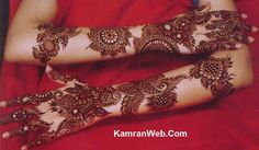 Bridal mehndi design for arms by Alisa Shah.Design covers arms in full, very beautiful bridal mehndi design.