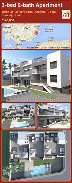 3-bed 2-bath Apartment in Torre De La Horadada, Alicante (Costa Blanca), Spain ►€149,000 #PropertyForSaleInSpain