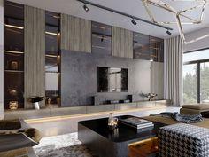 SHADES OF BEIGE on Behance Modern Interior, Home Interior Design, Interior Architecture, Modern Luxury, Floor Design, House Design, Wall Design, Living Room Designs, Living Room Decor