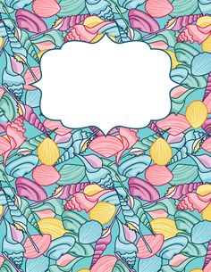 Free printable sea-shell binder cover template. Download the cover in JPG or PDF format at http://bindercovers.net/download/sea-shell-binder-cover/
