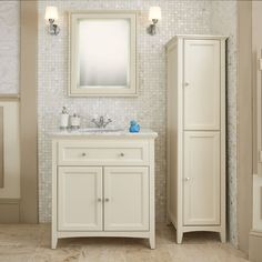Savoy Old English White 790 Basin Unit - With Marble Top And Basin | bathstore