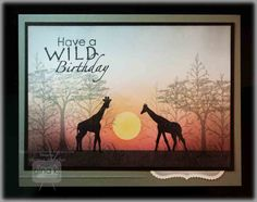 Crafting The Web: Giraffes at Sunset Tutorial