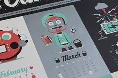 Robot calender by gariphic aka Gary Holmes