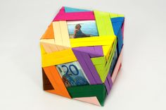 Fotogruesse: DIY: Geldgeschenk Foto-Origami-Würfel