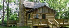 Old Log Cabin On River - Bing images
