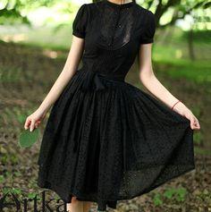 HandTailorByArtka : Black silk Tunic Dress A06876 | Sumally (サマリー)