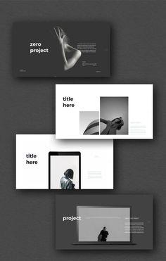 Zero Presentation Template #ppt #powerpoint #keynote #presentation #template #pitchdeck #portfolio #black #white #blacknwhite #simplep #minimalist #marketing #influencer Graphisches Design, Flat Design, Book Design, Layout Design, Portfolio Design Layouts, Template Portfolio, Mise En Page Portfolio, Site Portfolio, Portfolio Ideas