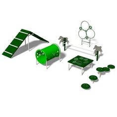 Ultra Play 6-Activity Intermediate Dog Park Agility Course Kit Bark-It