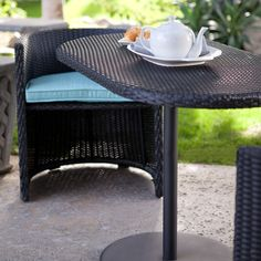 Patan All-Weather Wicker Nesting Bistro Set - Outdoor Wicker Dining Sets at Wicker Furniture