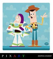 Buzz and Woody by Montygog