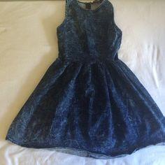 Denim Mini Dress Blue denim mini dress. Flared at the bottom. Vintage pattern Milkyway Dresses Mini