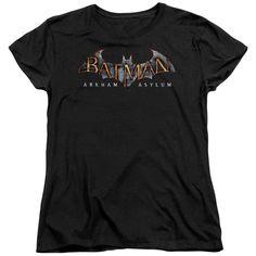 Batman Aa - Arkham Asylum Logo Short Sleeve Women's Tee