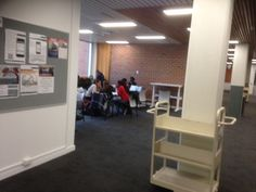 Curtin University (a bit hard to see, but the table at the back is height adjustable)