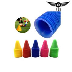 5 Pcs Set Skate Marker Cones Roller Soccer Supplies#soccer #soccersupplies #soccerequipment #football #sport #sportsupplies #motivation Soccer Supplies, Red Green Yellow, Training Equipment, Color Mixing, Markers, Skateboard, Basketball, Sport, Motivation