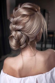 pinterest wedding hairstyles low bun with volume french braid tonyastylist