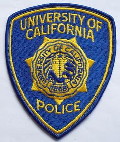 california police patches | University of California Police Patch