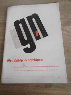Cover Graphische Nachrichten, 13. Jahrgang, Heft 1, Januar 1934