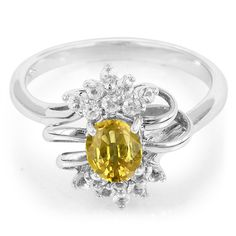 Yellow Sapphire-Silverring