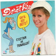 """Cabu 1984 Dorothée - Qu'il Est Bête (7"""") [AB Productions 881146-7] #albumcover #illustrations #comics #Pop #Music"""