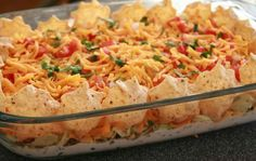 Super Bowl Party Food Ideas - Lightened Up Mexican Layered Dip - Click Pic for 40 Easy Super Bowl Snacks
