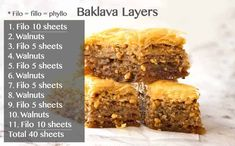 Layers upon layers of flaky buttery pastry with crushed nuts soaked in a honey lemon syrup. The iconic Baklava is astonishingly straight forward to make! Pre Made Meals, Meals For Two, Ukrainian Desserts, Meal Prep Grocery List, Baklava Recipe, Recipetin Eats, Flaky Pastry, Broccoli Beef, Honey And Cinnamon