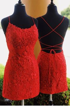 Straps tight short red lace homecoming dresses, 2019 short homecoming dresses so. - - Straps tight short red lace homecoming dresses, 2019 short homecoming dresses sold by SexyPromDress on Storenvy Source by Homecoming Dresses Tight, Tight Dresses, Sexy Dresses, Evening Dresses, Summer Dresses, Pretty Dresses, Red Hoco Dress, Casual Dresses, Homecoming Outfits