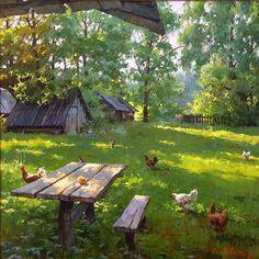 Russian Landscape Paintings Dmitry Levin