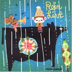 チュー太のレインライブ。今日は雨なのでね・・・。