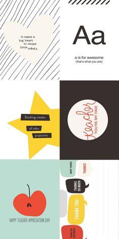 6 Free Card Printables and teacher gift ideas #backtoschool #freebies #freeprintables