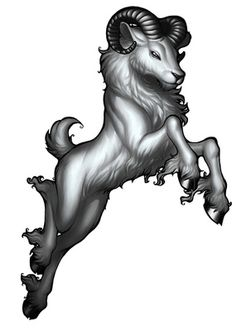 I want this tattooed on me when I'm old enough except I want the ram to be black and Aries writteen under it