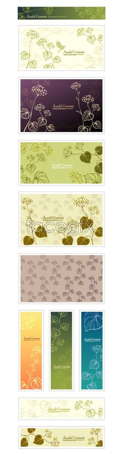 Plant pattern background, fresh and elegant vector