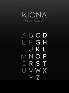 Kiona Font Family is simple but significant, and defined by its crisp edges and modern touches. It is designed for optimal legibility. An all caps sans-serif, KIONA makes a statement without making a scene. Graphic Design Fonts, Font Design, Typography Design, Modern Typography, Police Avec Serif, Lettering, Typographie Fonts, Minimal Font, Minimal Style