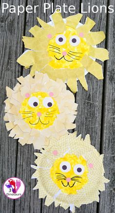 Easy To Make Paper Plate Lion - made with paper plates and torn pape, a fun craft for a zoo theme  - 3Dinosaurs.com  #3dinosaurs #craftsforkids #zootheme