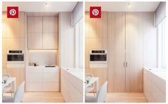 Pour réussir une decoration minimaliste il faut masquer les element dans de grand module de rangement comme cette cuisine invisible et astucieuse