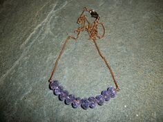 Lilac Crystal Necklaces in Copper Free by moonknightjewels on Etsy, $22.00