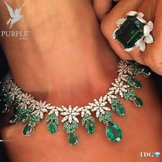 Check this another addition to you fashion this emerald and diamond necklace and…