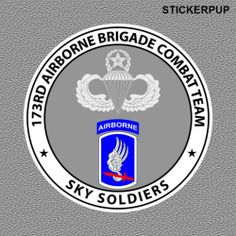 173rd Airborne Stickers StickerPup.Com Custom Stickers