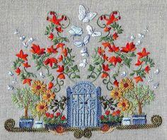 Embroidered Garden Gate.