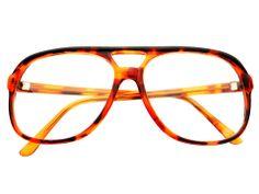 True Retro Vintage Style Clear Lens Aviator Glasses Tortoise A1122