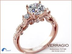 OMG!!! Typically I swoon over the halo settings but this in rose gold is to die for! There is no saying no to this.