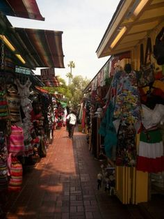 Walking through Olvera street