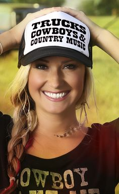 Grange Co-op: Ali Dee Collection® Trucks Cowboys & Country Music Trucker Hat Cute N Country, Country Girl Style, Country Fashion, Country Outfits, Country Chic, Country Girls, My Style, Southern Girls, Country Life