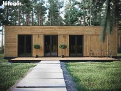 Contemporary Garden Rooms, Garage Doors, Shed, Outdoor Structures, House Design, Outdoor Decor, Container, Summer, Home Decor