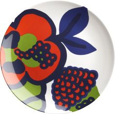 """Marimekko Oona 9"""" Melamine Salad Plate in Appetizer ~ These would look nice with the green plates!"""