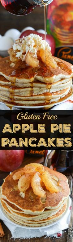 This Apple Pie Pancakes Recipe Is The Best For Homemade Pancakes Apple Pie Pancakes with warm bites of cinnamon apples cooked inside! Gluten Free Recipes For Breakfast, Brunch Recipes, Dessert Recipes, Oreo Dessert, Yummy Pancake Recipe, Yummy Food, Pancake Recipes, Apple Recipes, Sweet Recipes