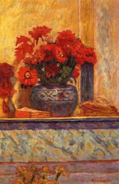 ALONGTIMEALONE: lonequixote:   Red Flowers ~ Pierre Bonnard