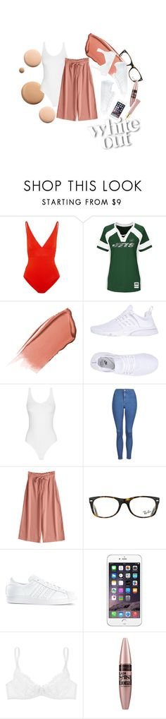 """✉️"" by sashabudgen on Polyvore featuring CC, Eres, Majestic, Hourglass Cosmetics, NIKE, Topshop, Ray-Ban, adidas, L'Agent By Agent Provocateur and Maybelline"