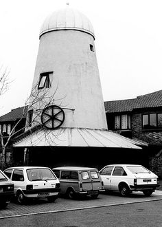 1988 March - Nyetimber tower windmill, Pagham, East Sussex Tower Windmill, Nyetimber, Sussex, March 1988, Photograph by Justin Brice.